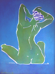 Gesture in Green and Blue