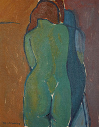 Gesture in Green, Blue and Brown