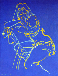 Gesture in Blue and Yellow