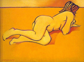 Gesture in Yellow and Orange